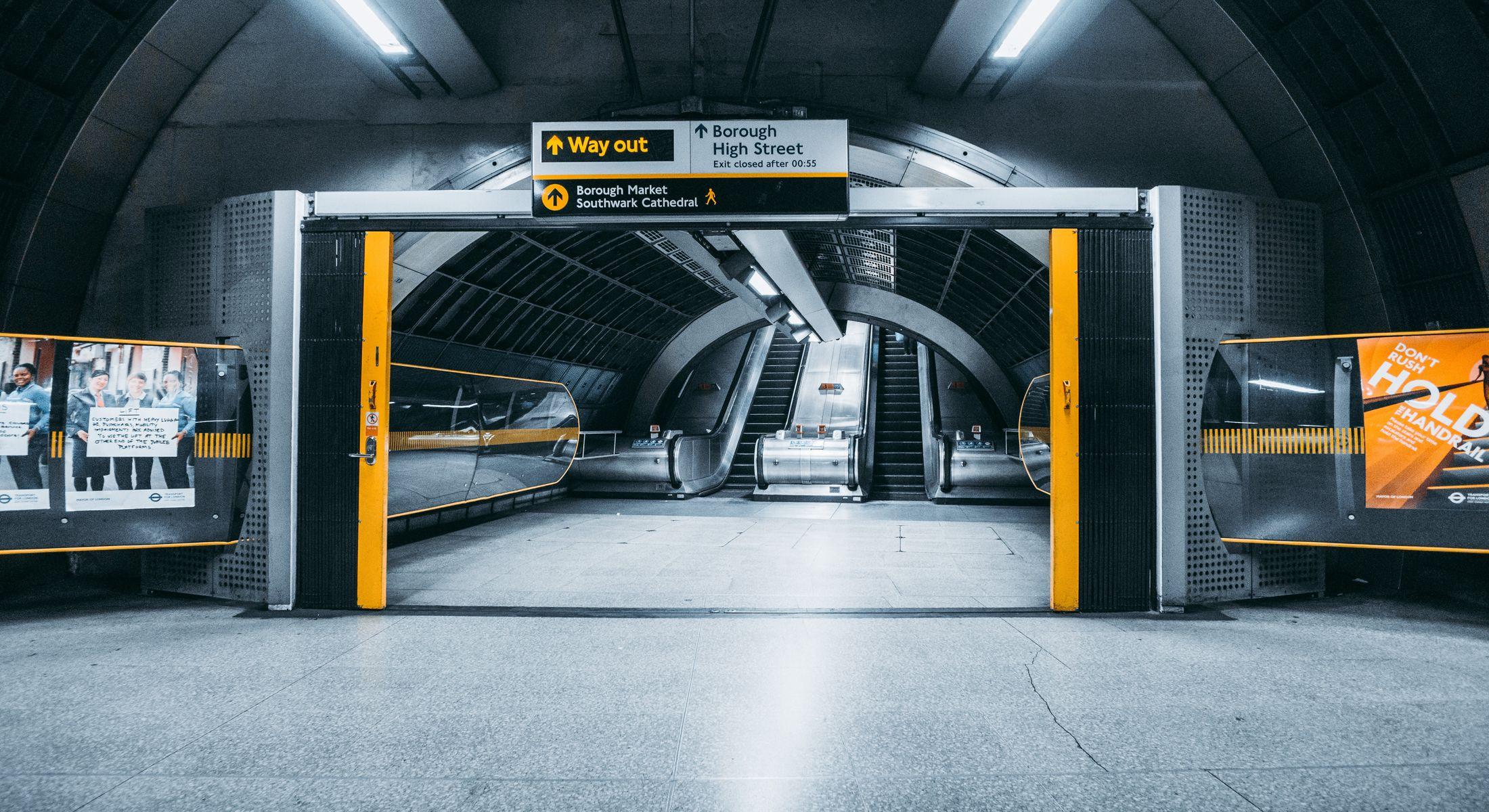 Underground station in London