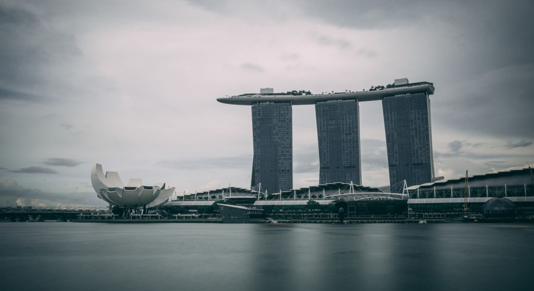 Marina Bay Sands hotel from the Marina Bay